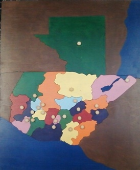 Guatemala Department Puzzle Map - wood