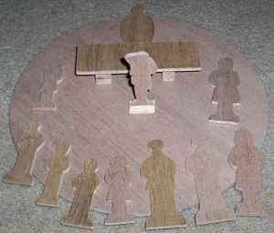 Catechesis Wooden 2-D Figures - Level 1 - Outlined