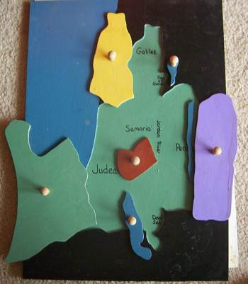 Israel Regions Puzzle Map