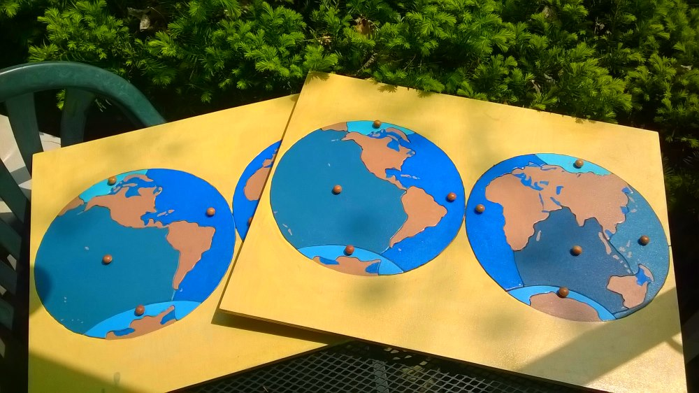Continents Or Oceans of the World Puzzle Map - wood